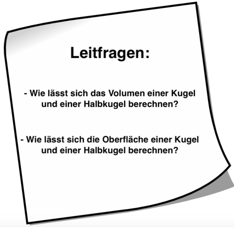 6.1 Kugel – Volumen und Oberfläche | Herr Hagenunger